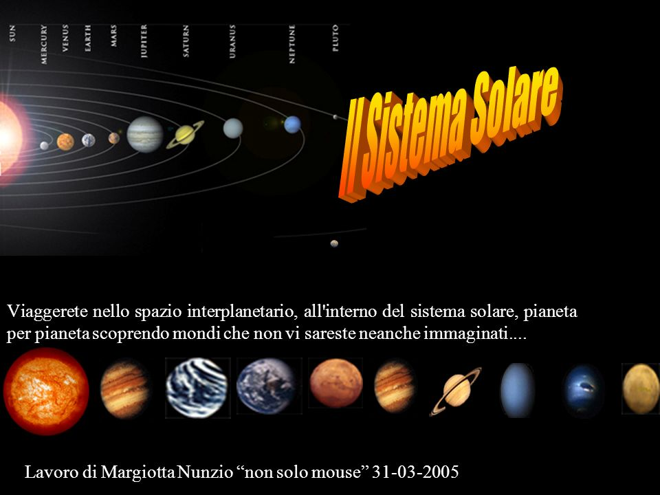 Il Sistema Solare Benvenuti!
