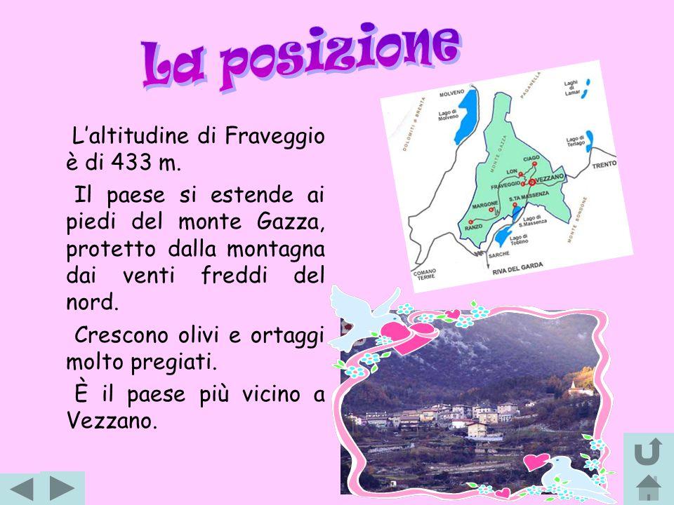 La posizione L'altitudine di Fraveggio è di 433 m.