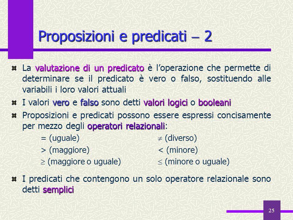 Proposizioni e predicati  2