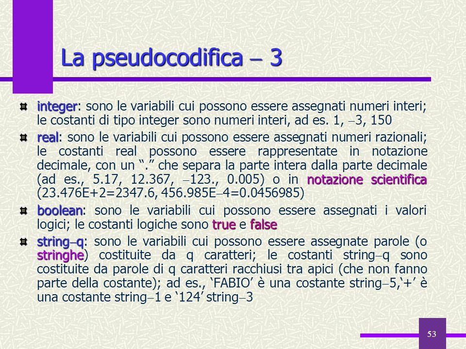 La pseudocodifica  3