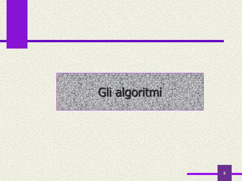 Gli algoritmi