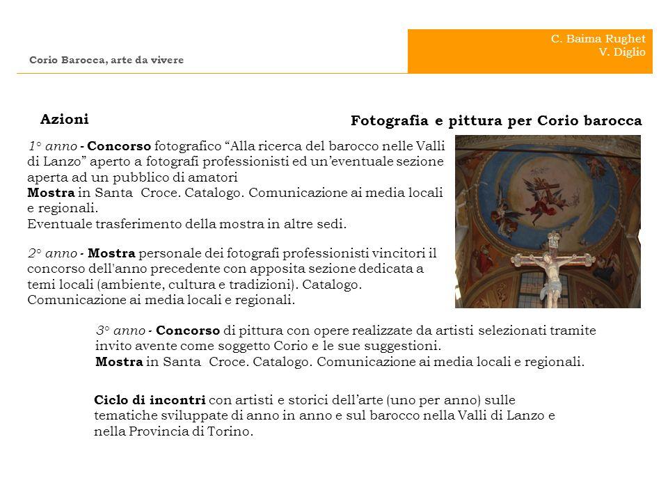 . . Azioni Fotografia e pittura per Corio barocca