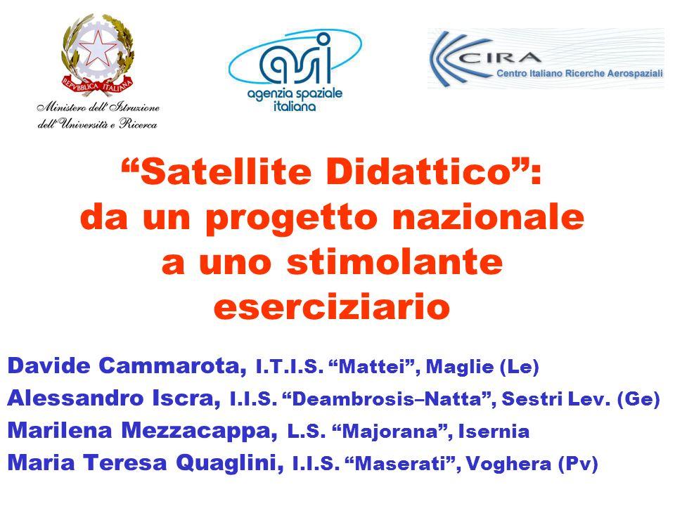 Satellite Didattico : da un progetto nazionale a uno stimolante eserciziario