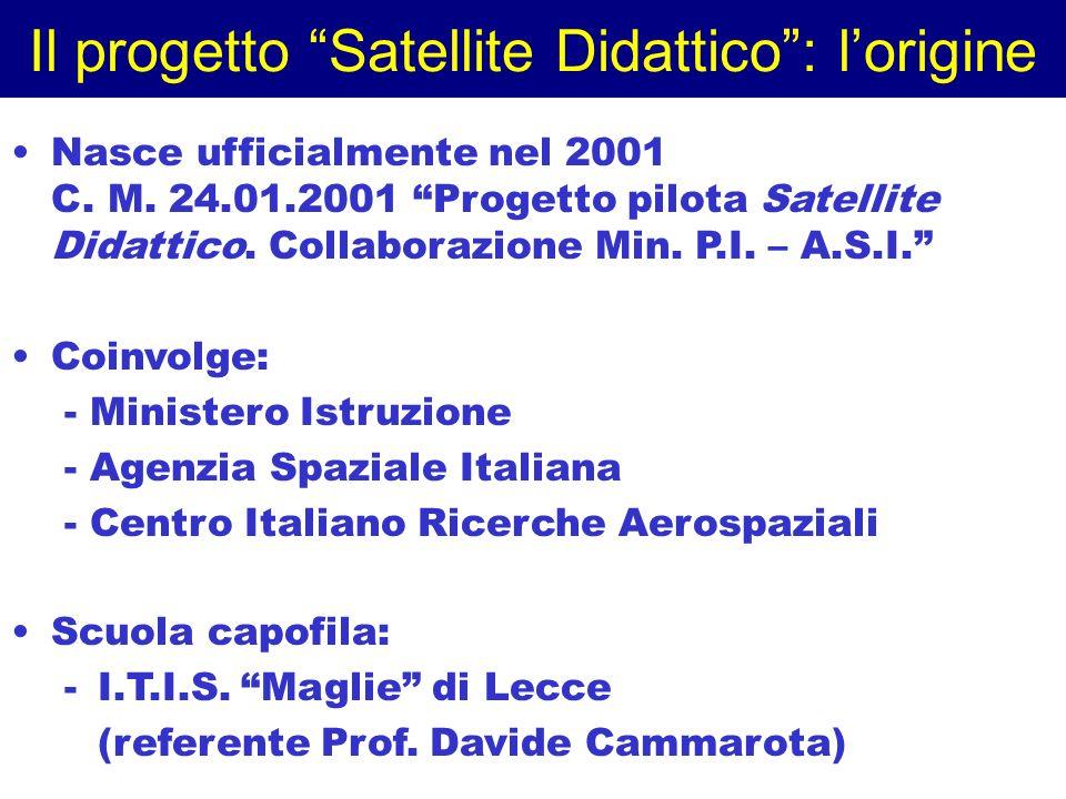 Il progetto Satellite Didattico : l'origine