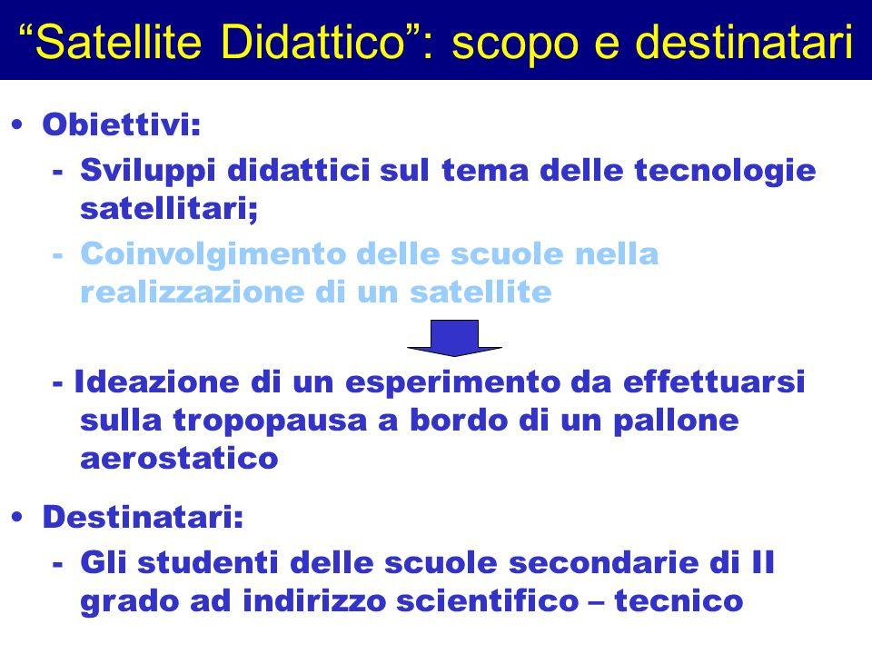 Satellite Didattico : scopo e destinatari