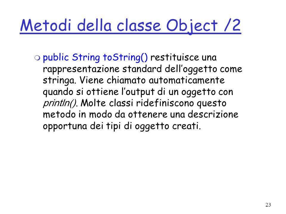 Metodi della classe Object /2