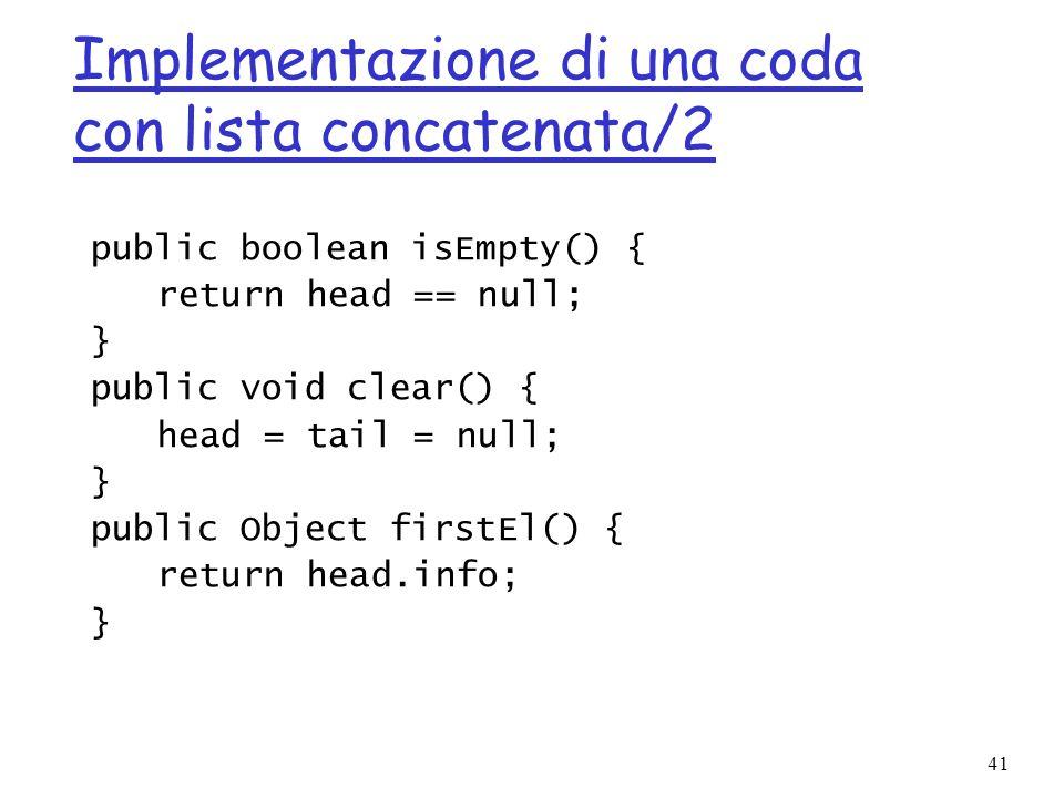 Implementazione di una coda con lista concatenata/2