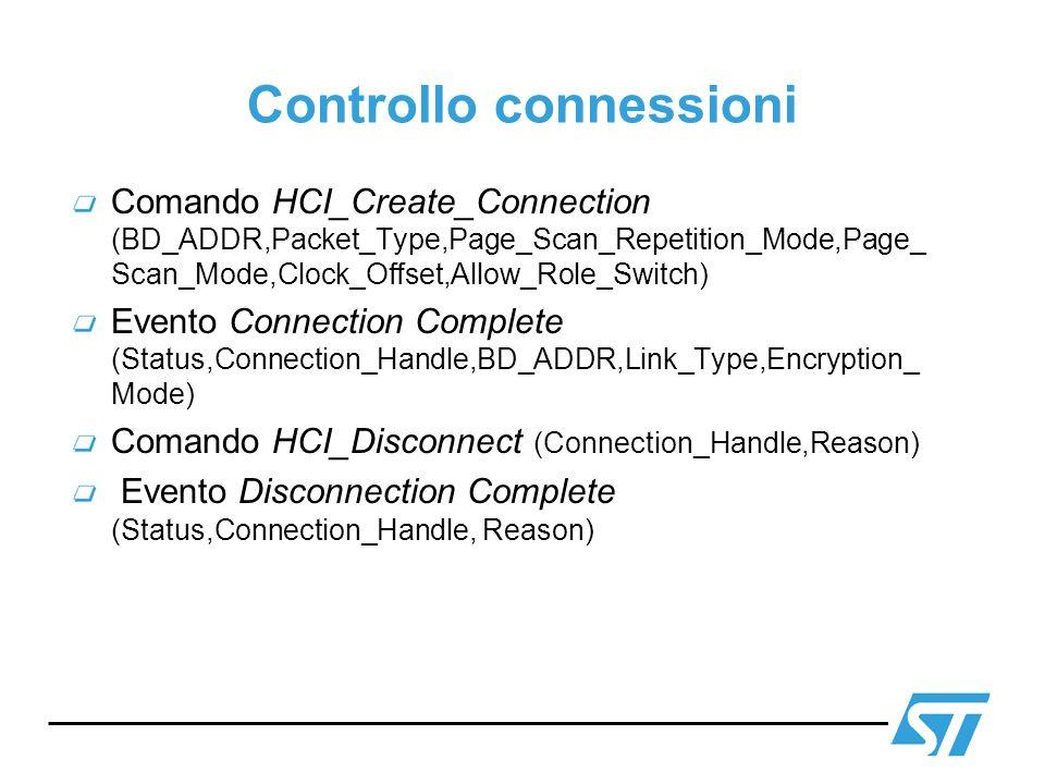Controllo connessioni