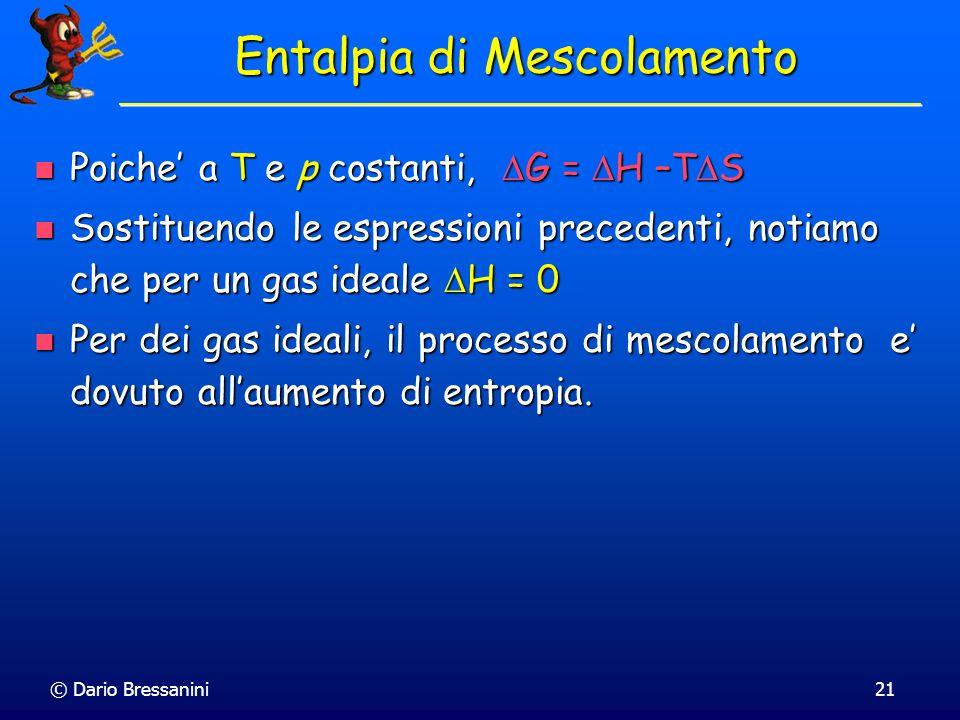 Entalpia di Mescolamento