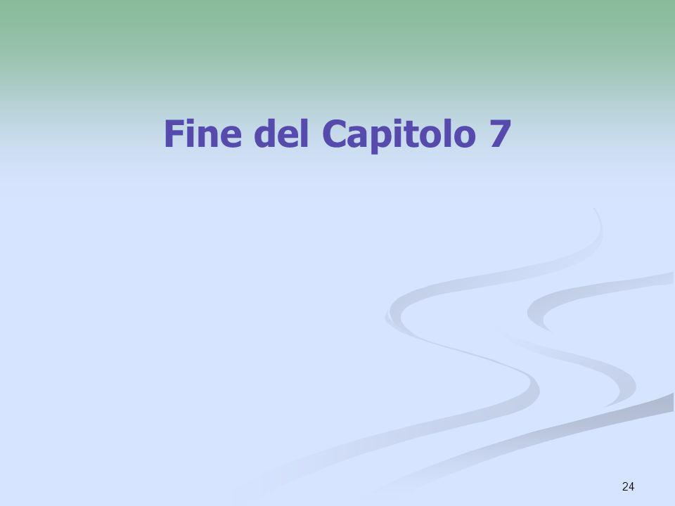 Fine del Capitolo 7