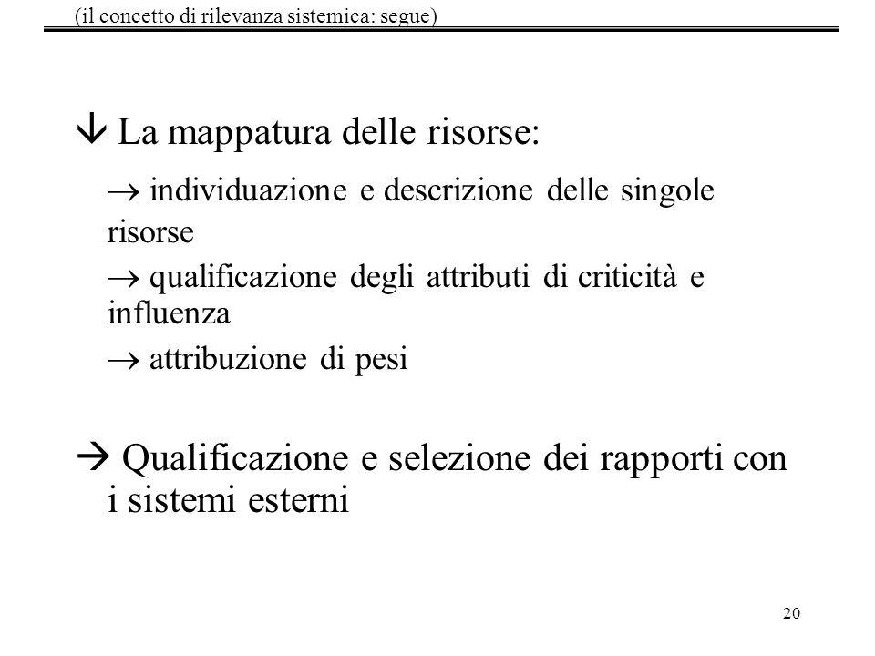 (il concetto di rilevanza sistemica: segue)