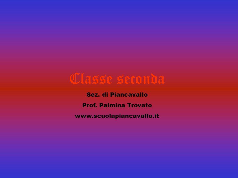 Classe seconda Sez. di Piancavallo Prof. Palmina Trovato