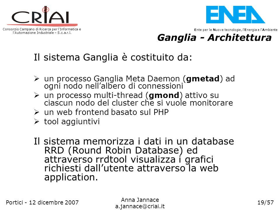 Ganglia - Architettura