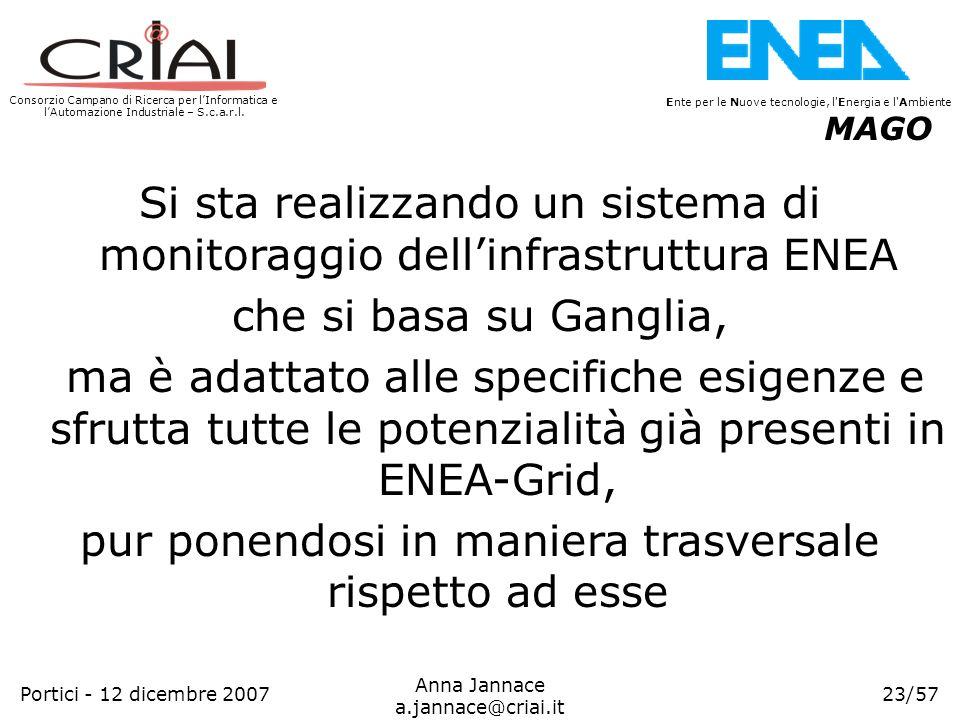 Si sta realizzando un sistema di monitoraggio dell'infrastruttura ENEA