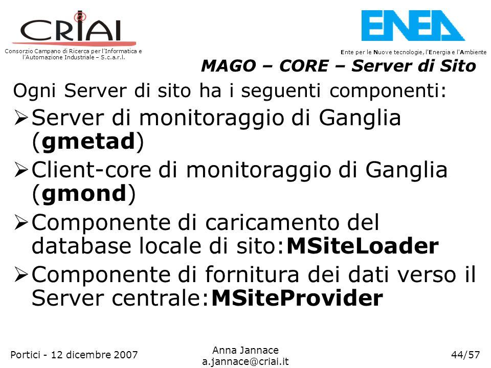 Server di monitoraggio di Ganglia (gmetad)