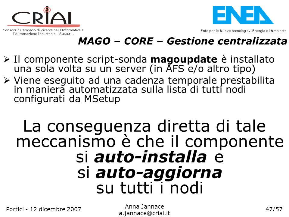 MAGO – CORE – Gestione centralizzata