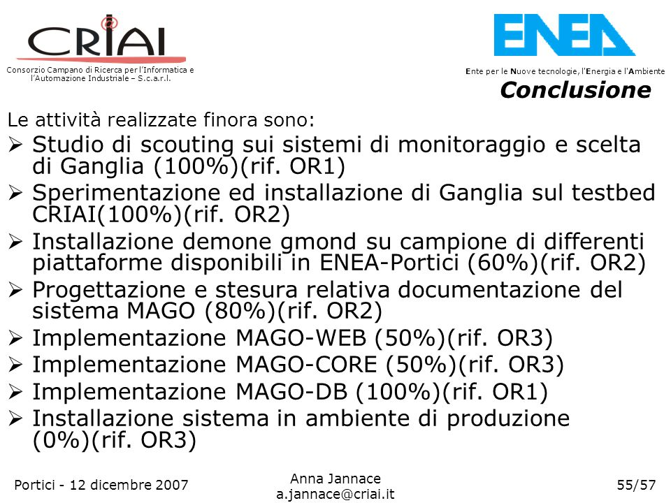 Implementazione MAGO-WEB (50%)(rif. OR3)