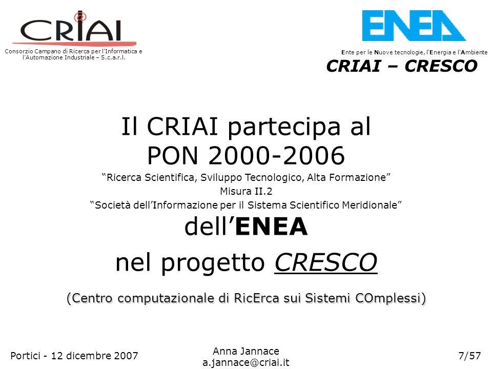 Il CRIAI partecipa al PON 2000-2006 dell'ENEA nel progetto CRESCO