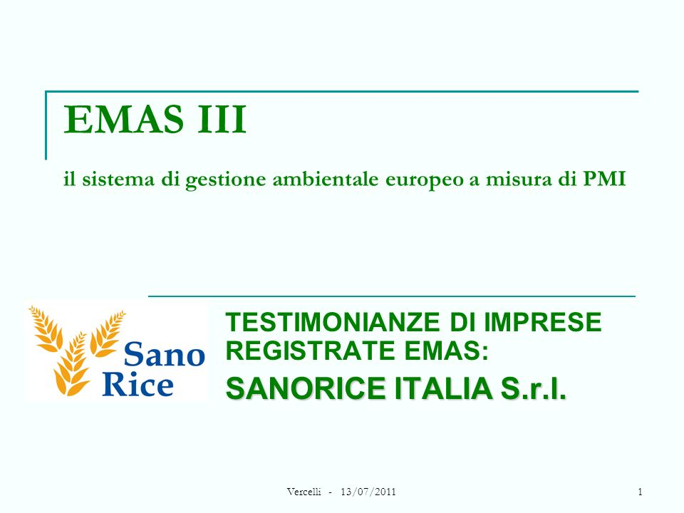 EMAS III il sistema di gestione ambientale europeo a misura di PMI