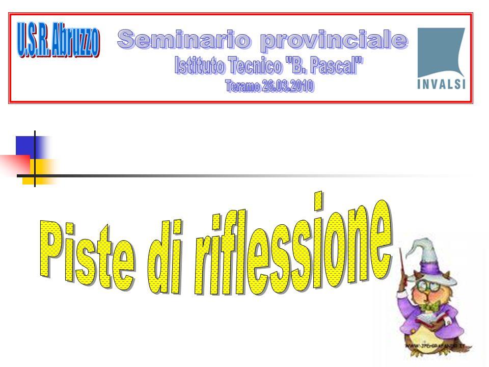 U.S.R. Abruzzo Piste di riflessione Seminario provinciale