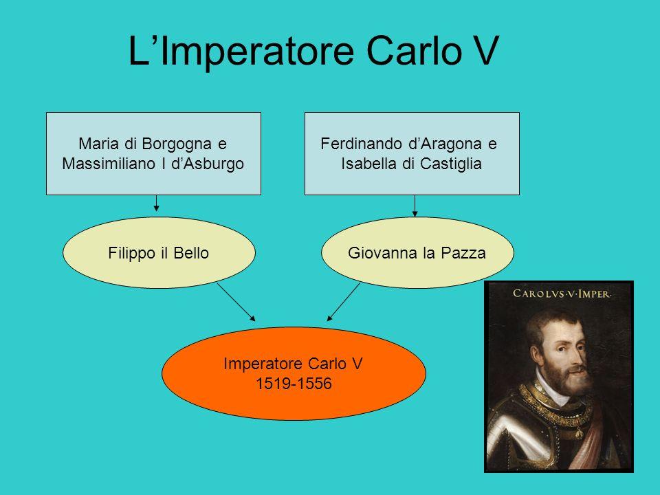 L'Imperatore Carlo V Maria di Borgogna e Massimiliano I d'Asburgo