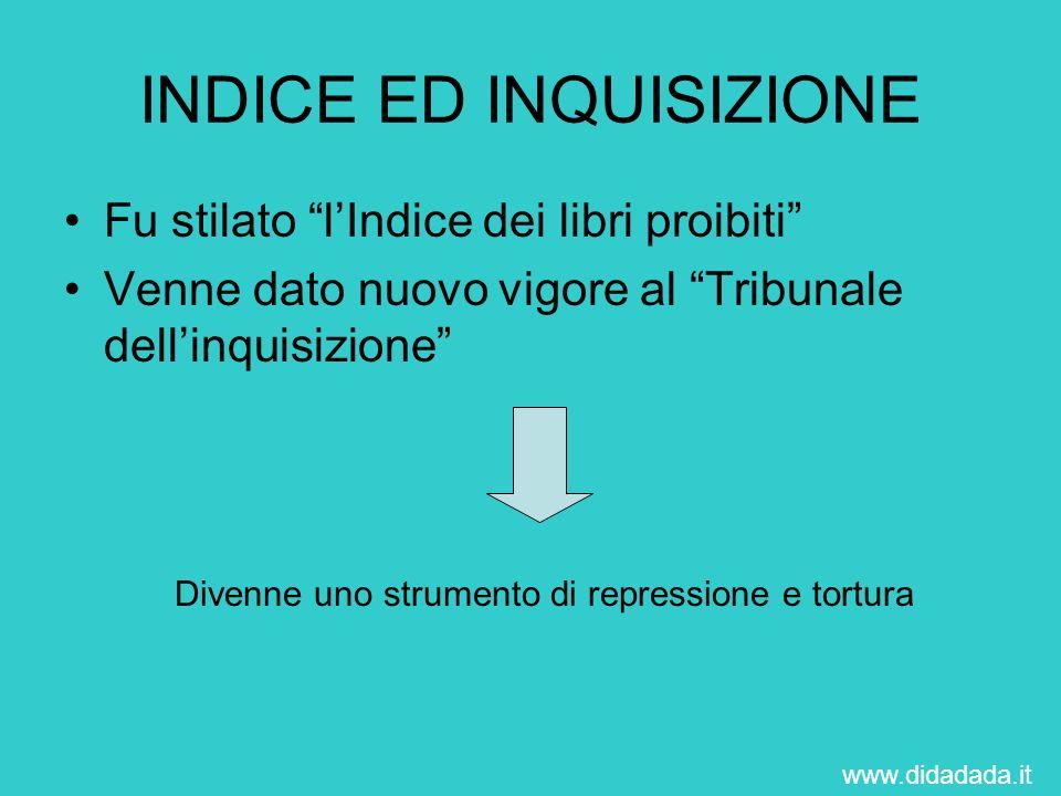 INDICE ED INQUISIZIONE