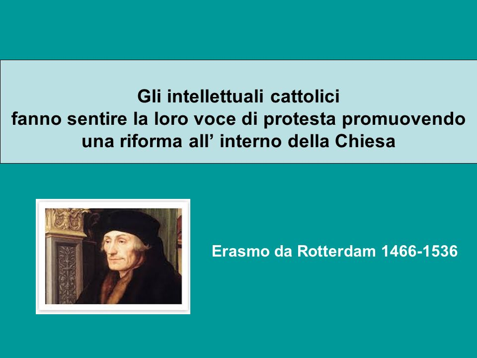 Gli intellettuali cattolici fanno sentire la loro voce di protesta promuovendo una riforma all' interno della Chiesa