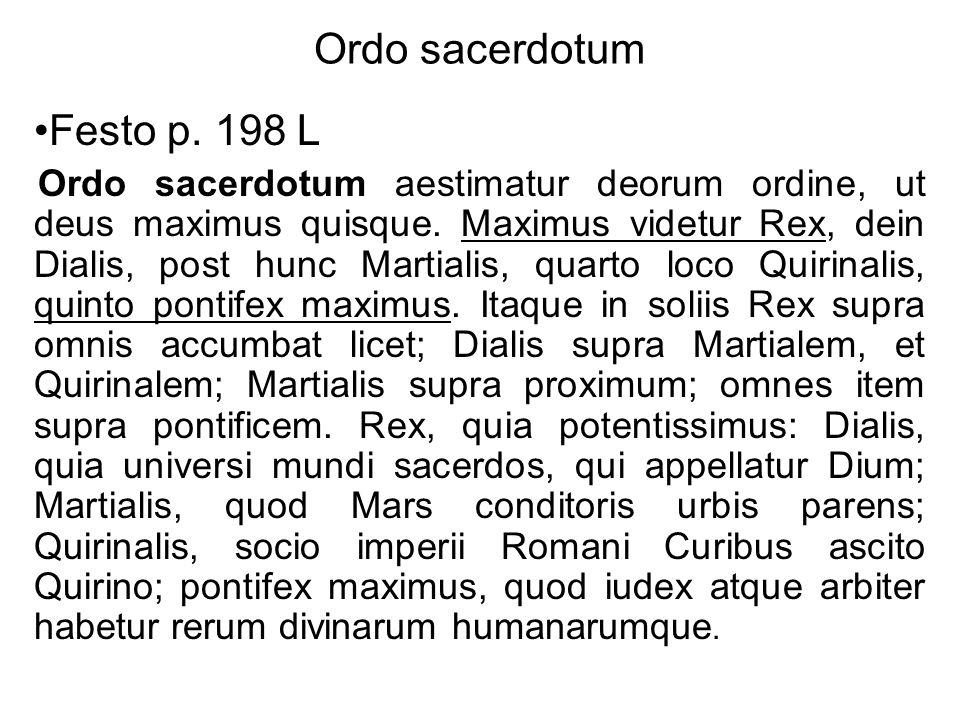 Ordo sacerdotum Festo p. 198 L