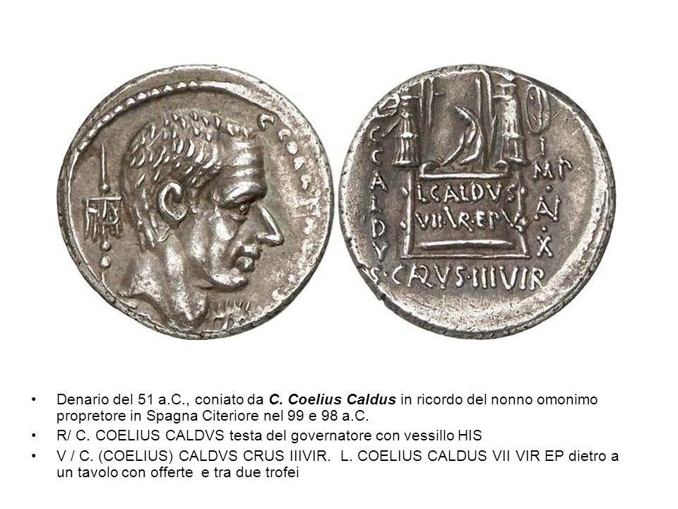 Denario del 51 a. C. , coniato da C