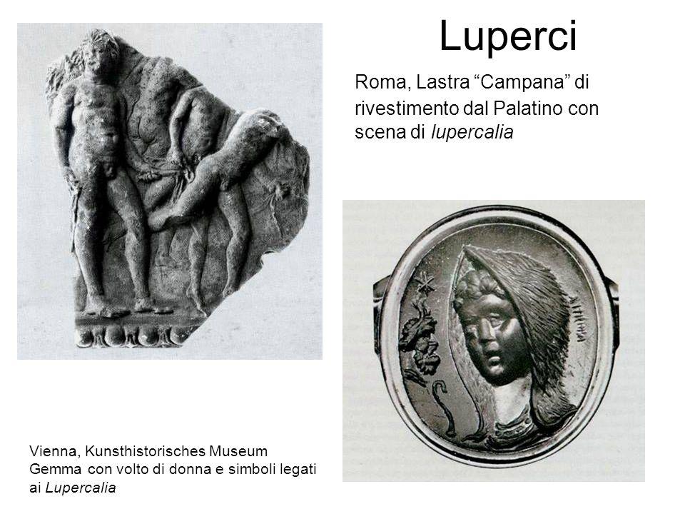 Luperci Roma, Lastra Campana di rivestimento dal Palatino con scena di lupercalia. Vienna, Kunsthistorisches Museum.