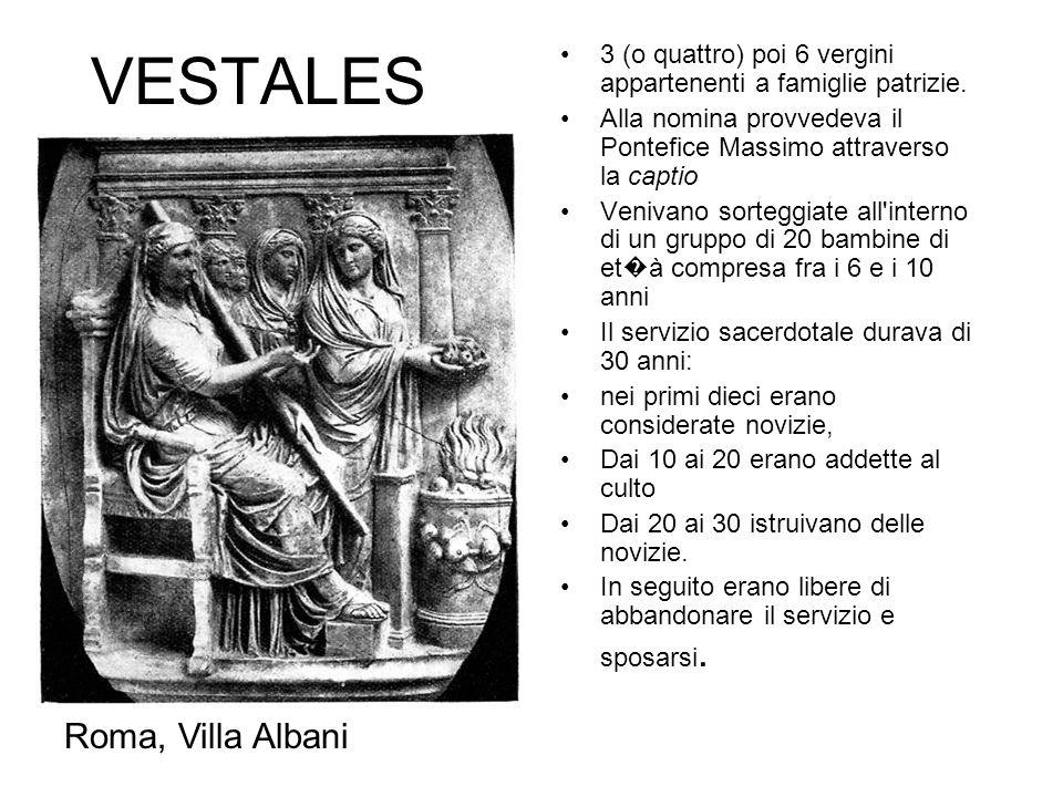 VESTALES Roma, Villa Albani