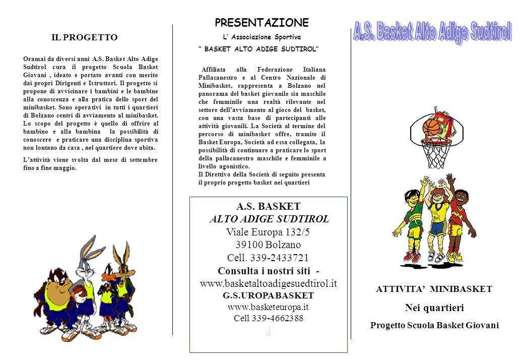 L' Associazione Sportiva Progetto Scuola Basket Giovani