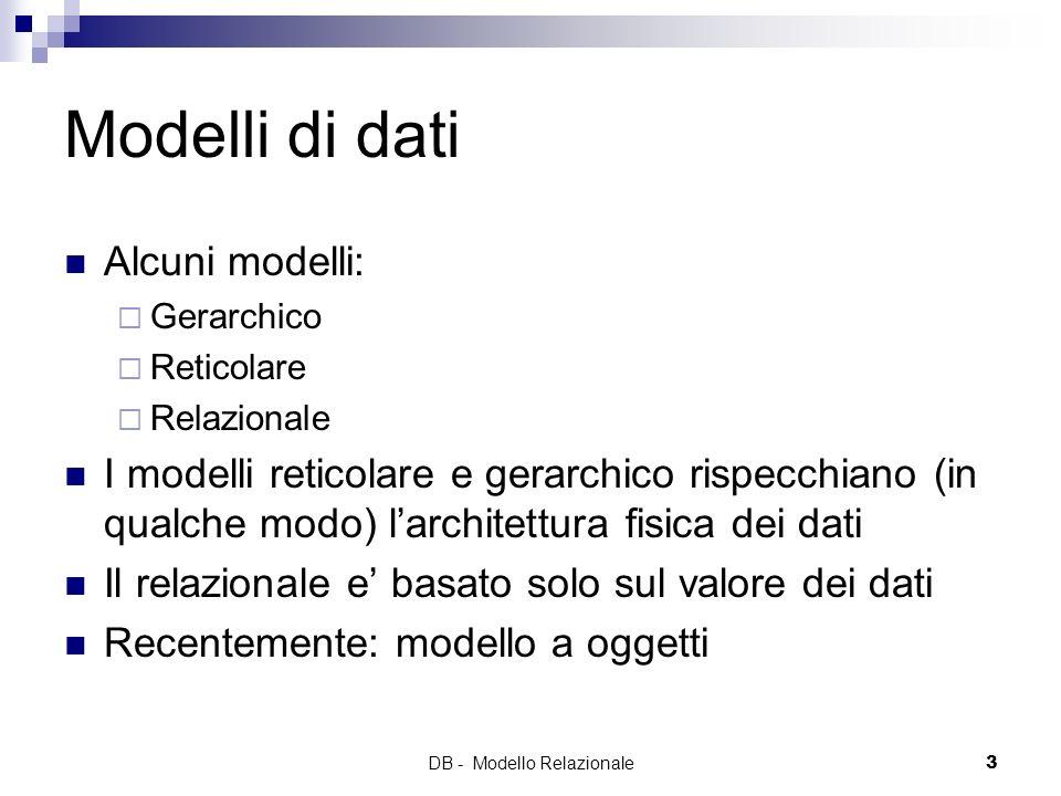 DB - Modello Relazionale