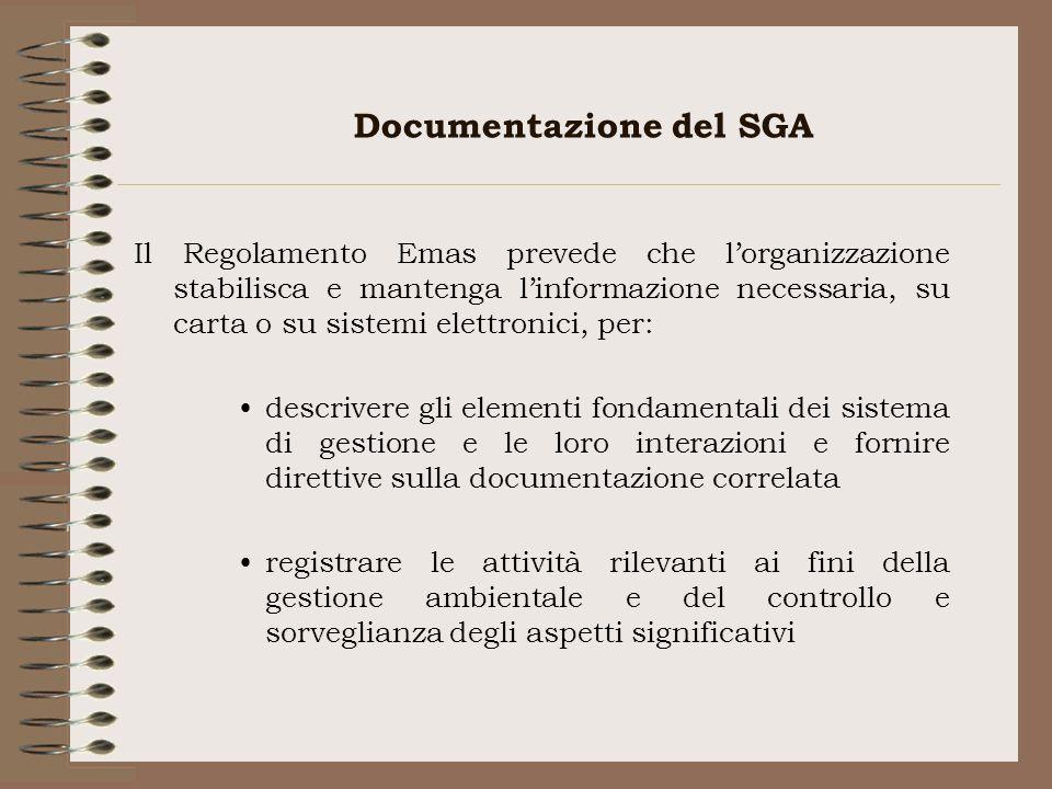 Documentazione del SGA