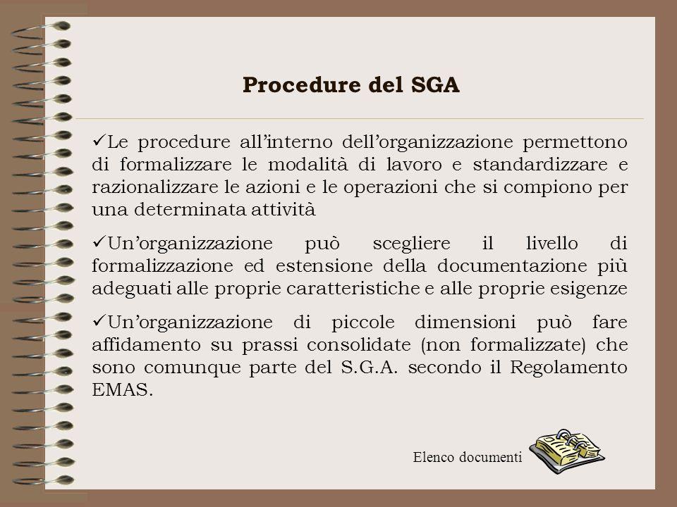 Procedure del SGA