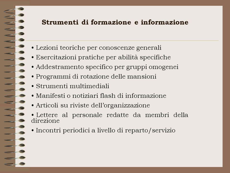 Strumenti di formazione e informazione