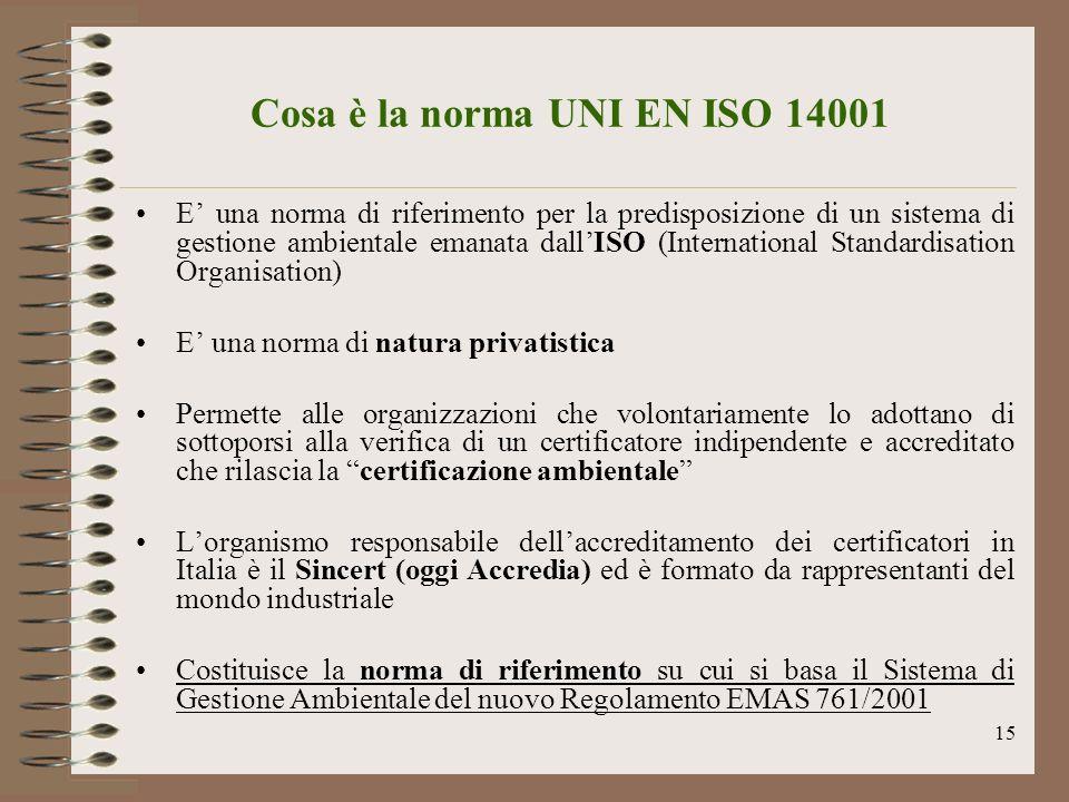 Cosa è la norma UNI EN ISO 14001