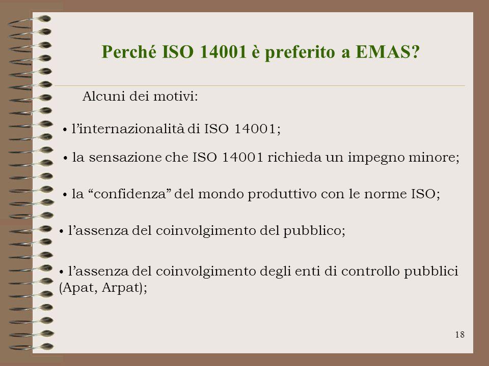 Perché ISO 14001 è preferito a EMAS