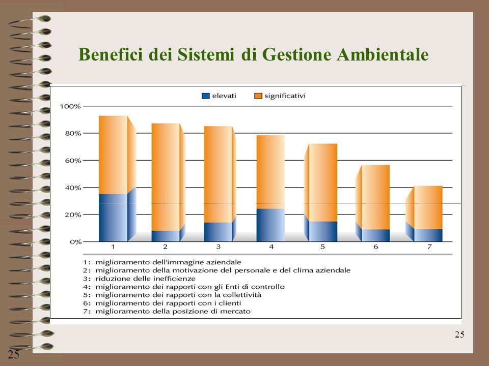 Benefici dei Sistemi di Gestione Ambientale