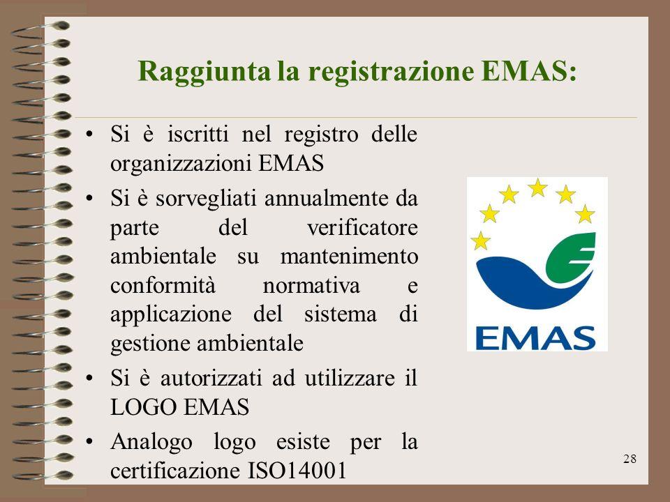 Raggiunta la registrazione EMAS:
