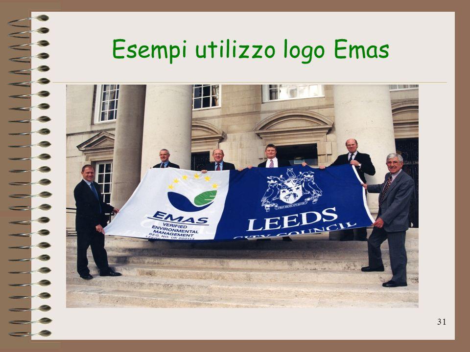 Esempi utilizzo logo Emas