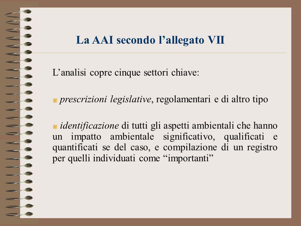 La AAI secondo l'allegato VII