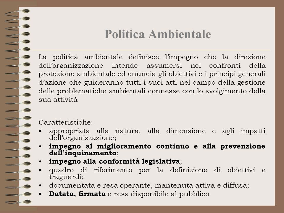 Politica Ambientale