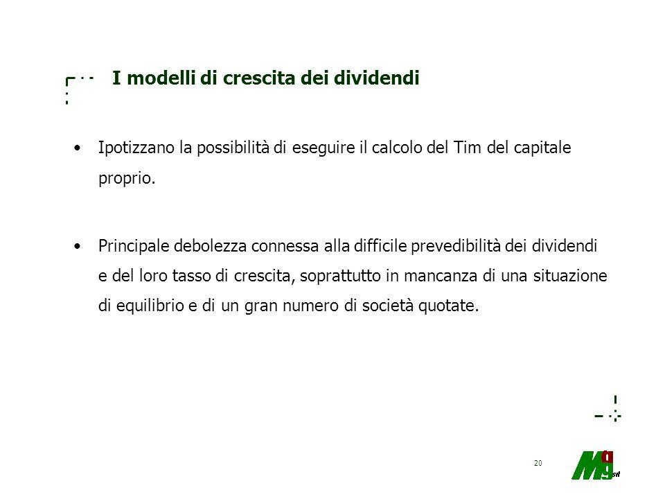I modelli di crescita dei dividendi