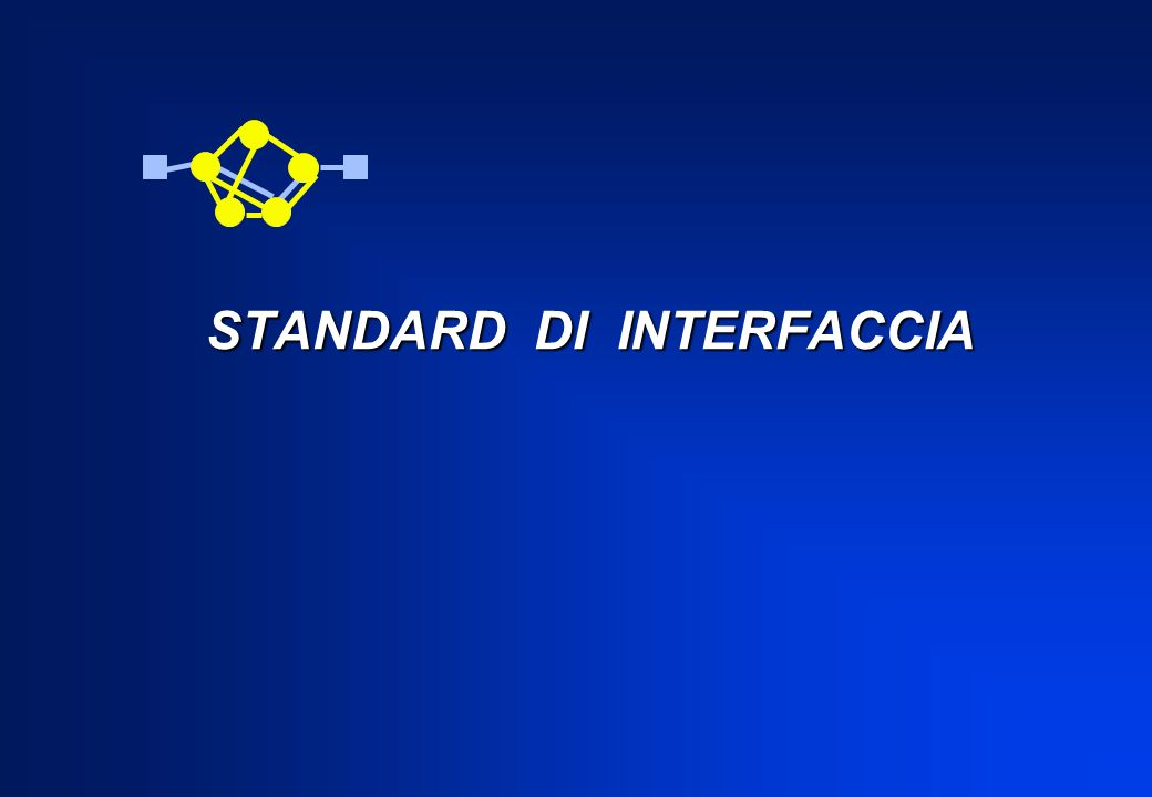 STANDARD DI INTERFACCIA