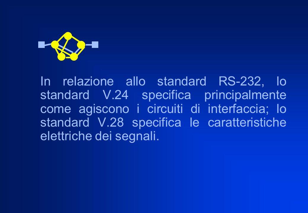 In relazione allo standard RS-232, lo standard V