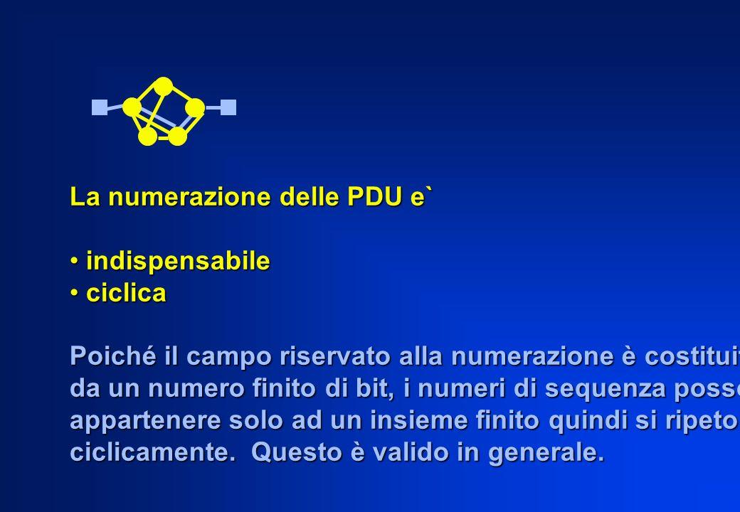 La numerazione delle PDU e`
