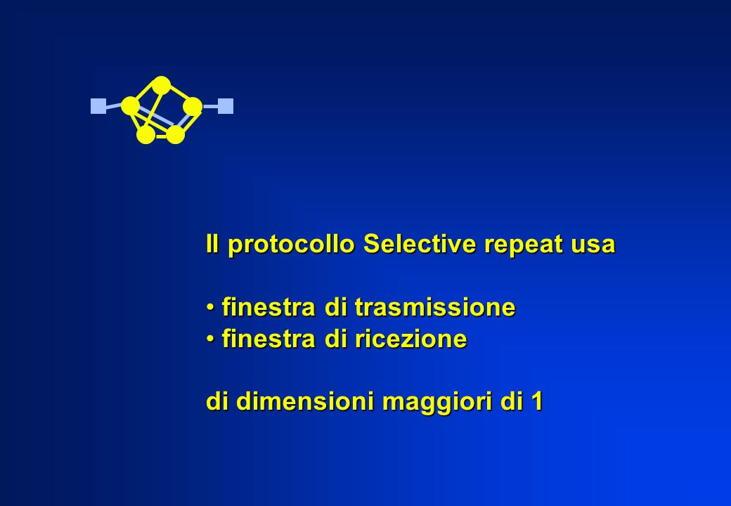 Il protocollo Selective repeat usa