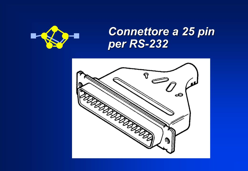 Connettore a 25 pin per RS-232