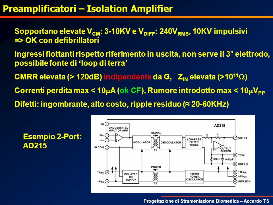 Preamplificatori – Isolation Amplifier